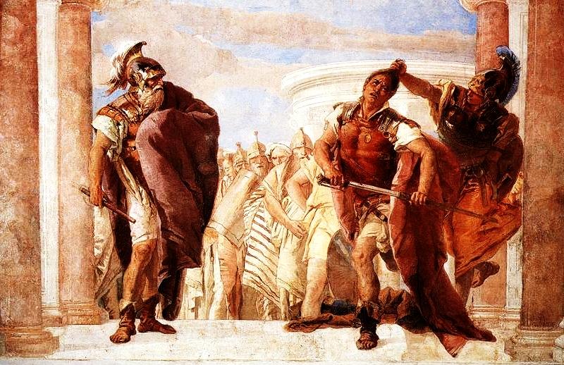 Minerva trattiene Achille dall'uccidere Agamennone!